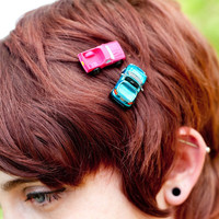 Upcycled Fun MicroBow Bobbypins/ Hair Pins