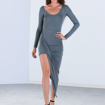 Ur Asymmetrical Side Bodycon Dress