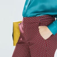 Trousers with tie print
