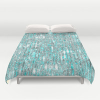 The Cold Never Bothered Me Anyway (Frozen Icicle Abstract) Duvet Cover by soaring anchor designs ⚓ | Society6