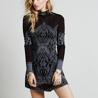 Free People Womens Miles and Miles Sweater Dress - Black,