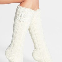 LEMON 'Floral Blizzard' Slipper Socks | Nordstrom