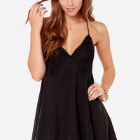Garage Band Washed Black Slip Dress