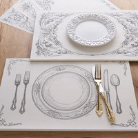 Paper Place Mat Sets - Horchow