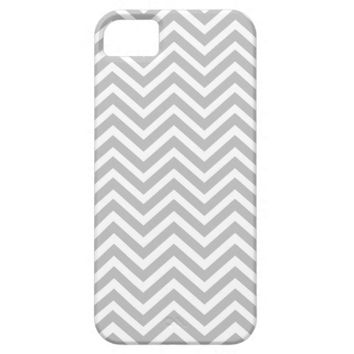 Chevron Stripes Gray and White iPhone 5/5s Cover
