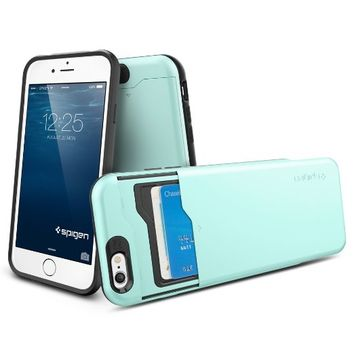 Advanced shock absorption protective wallet case for iphone 6 plus 5