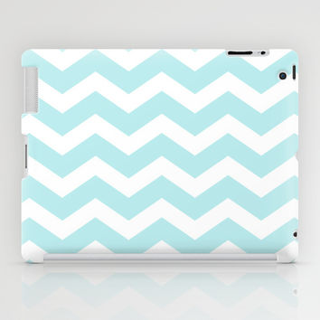 Turquoise Aqua Blue Chevron iPad Case by BeautifulHomes