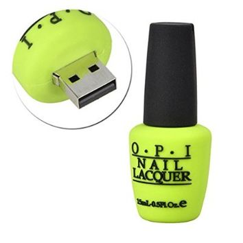 Sunworld® Novelty Green 16GB Nail Polish Bottle Shape USB 2.0 Flash Drive Memory stick Gift USA