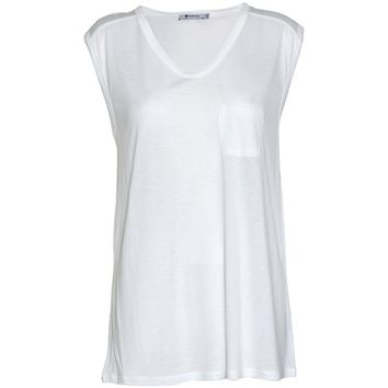 T by Alexander Wang - Classic muscle T-shirt med lomme - YouHeShe
