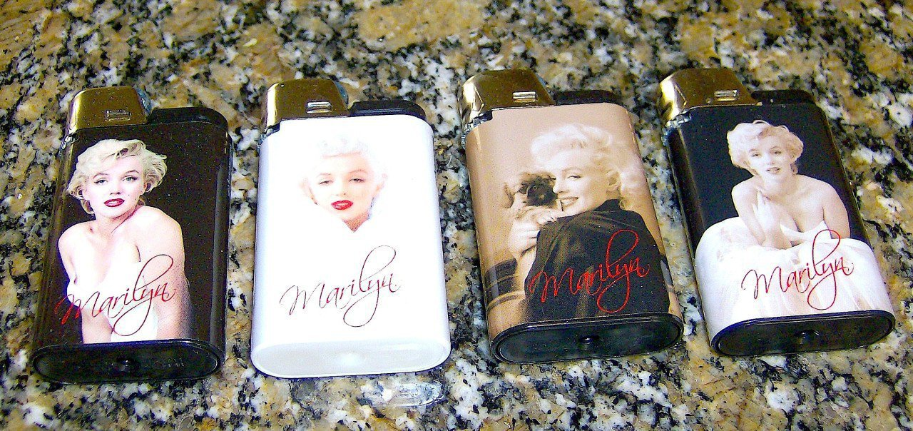 DJEEP PARIS COLLECTION MARILYN MONROE LIGHTERS 4 PACK LIMITED EDITION SERIES