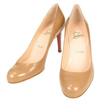 Christian Louboutin Simple 85 Patent Pump Camel