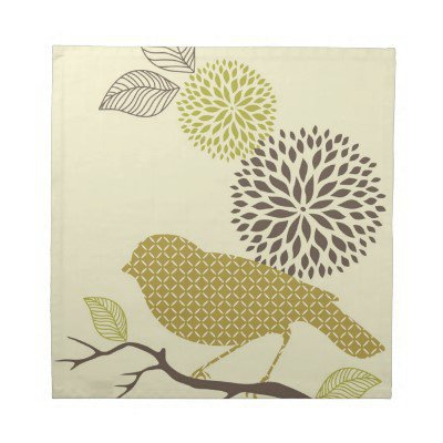 Bird & Flower Napkins from Zazzle.com