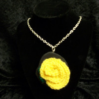 Fabricated Color: Made to order rose necklace