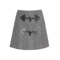 see by chloé - wool-blend skirt