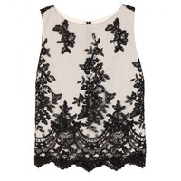 alice + olivia - amal lace top