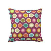 POLKA PLUMMY PILLOWS from Zazzle.com