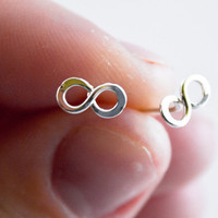 Infinity Posts - Argentium Sterling Silver stud Earrings