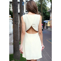 Bqueen Sexy Neckholder Chiffon Apricot  Dress FQ369X