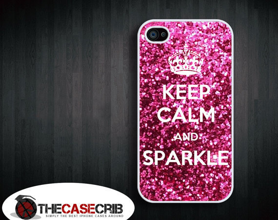 Keep calm and Sparkle iPhone 4s and iPhone 4 Case, Cover