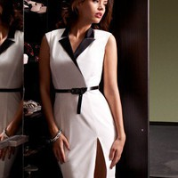 Lipsy Sculpted Belted Dress