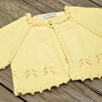Baby Sweater, Toddler Shrug, Summer, Sunflower, Girl Sweater, Cardigan
