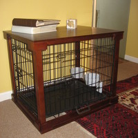 Wood pet crate/end table