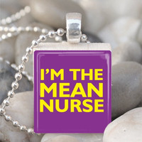 Scrabble Tile Pendant Nurse Pendant Nurse Necklace With Silver Ball Chain (A588)