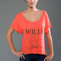 Wild &amp; Free Supima Modal Eco-friendly Scoop Neck Cropped Slub Tee