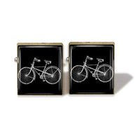 Scrabble Tile Cuff Links Bike Cuff Links Bicycle Cufflinks (A2847)