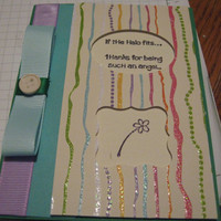 Greeting Card Kit - You&#x27;re an Angel - Multi colored on Green - also available as a finished set for 2.00  dollars more