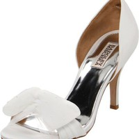 Badgley Mischka Women`s Zandra Pump,White,8 M US