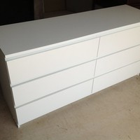 Ikea Malm 6 Drawer Dresser white