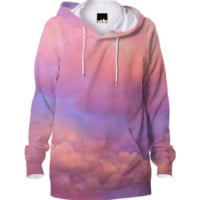 See the Dawn (Dawn Cloud Abstract) Unisex Hoodie created by soaringanchordesigns | Print All Over Me