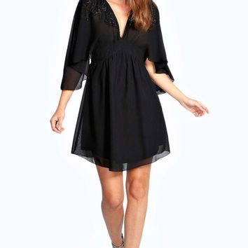 Amelia Embellished Woven Dress