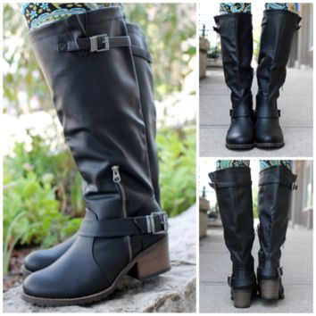 Calling of Harvest Boot - Black - BLACK /
