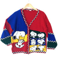 Snoopy's Selfies Peanuts Vintage 80s Tacky Ugly Sweater