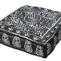 One Kings Lane - Sidney Marcus - Black and Silver Square Cushion