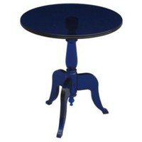One Kings Lane - Global Form - Casper Acrylic Side Table, Cobalt