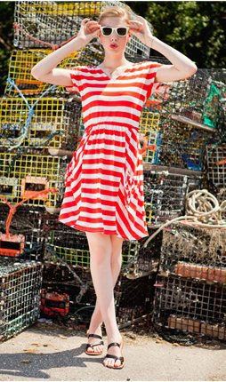 Beachcomber Red and White Stripe Dress