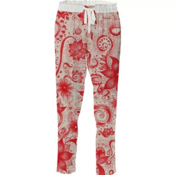 Red ink floral created by duckyb | Print All Over Me