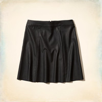 Palm Canyon Faux Leather Skirt