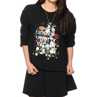 Obey Steal Life Black Crew Neck Sweatshirt