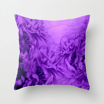 floral landscape Throw Pillow by clemm