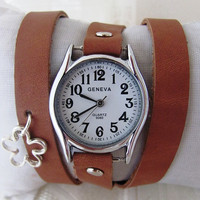 Stylish Lady Wrist Watch With A Unique Leather Band. 20% Off - 64 Dolars Only. FREE SHIPPING