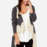 Thinking Out Lounge Cream and Grey Sweater