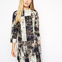 Whistles Heavy Tunic Dress in Rock Print at asos.com