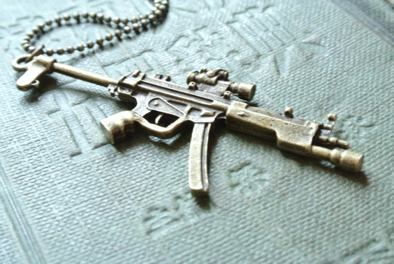 MP5 Sub Machine Gun Necklace