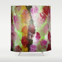 Squared Flowers #2 Shower Curtain by Jenartanddesign | Society6