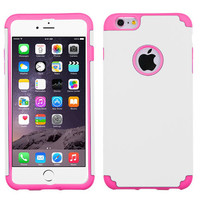 MYBAT Fusion Protector iPhone 6 Plus Case - White/Electric Pink