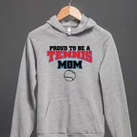 Proud To Be A Tennis Mom-Female Snow T-Shirt